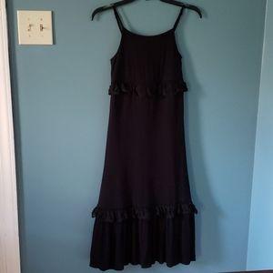 Girls Long Black Dress By Art Class Size M (7-8)